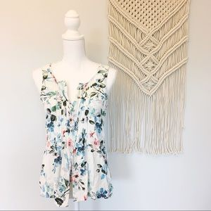 Sanctuary Floral Sleeveless Boho Blouse